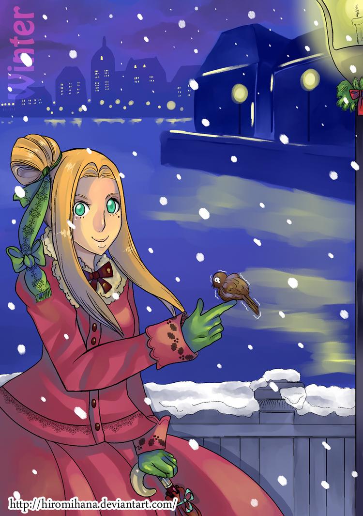 Iris winter by hiromihana