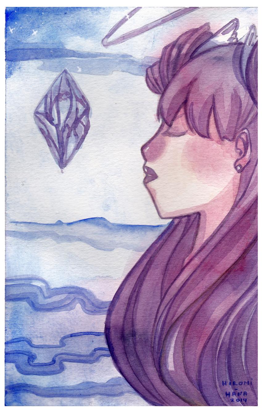 Watercolor: The cristal by hiromihana