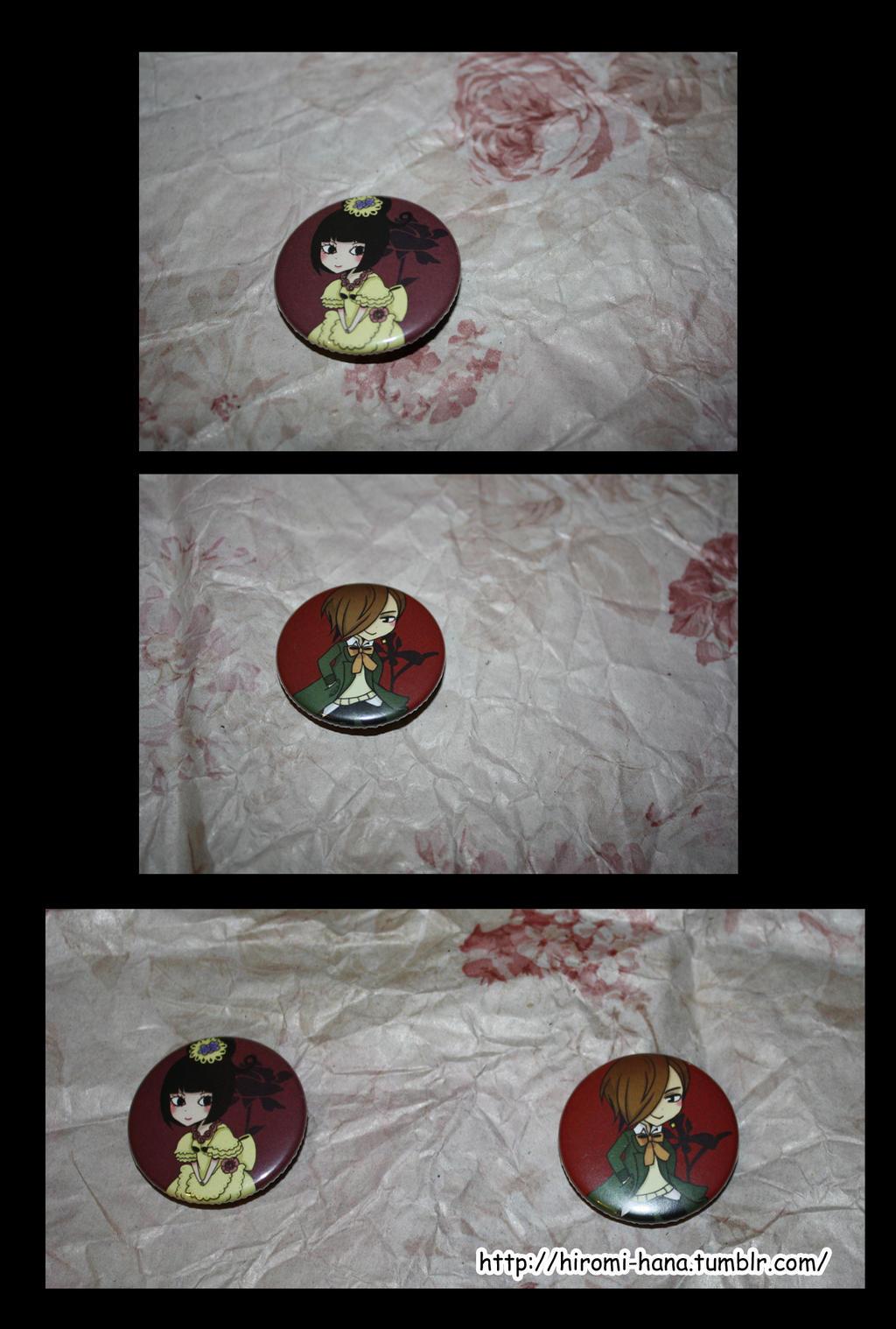 Badges: Steve et Hakuro_Hortensia by hiromihana