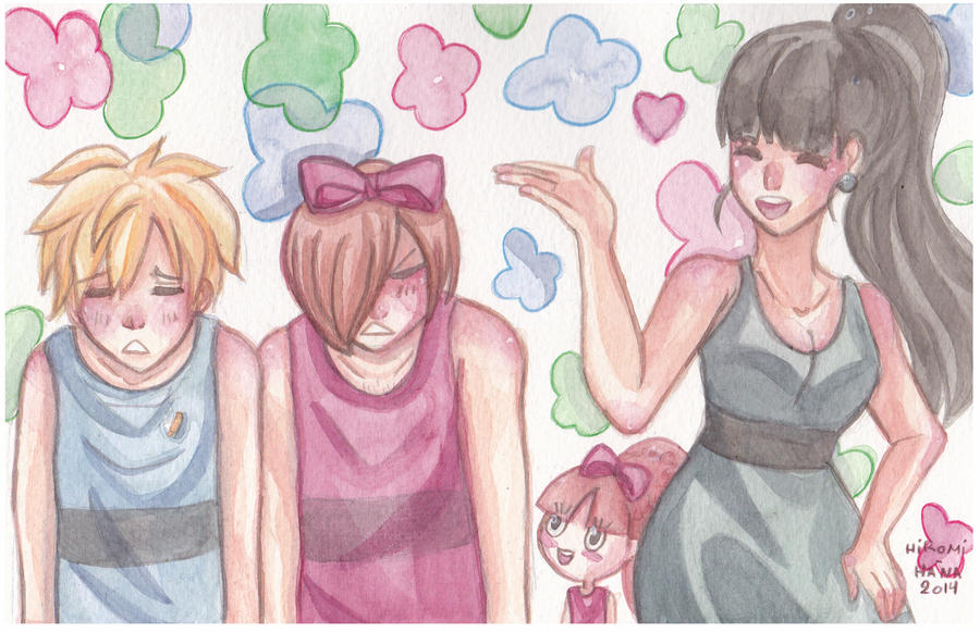 Watercolor: Les super Nana by hiromihana