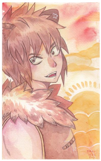 Watercolor: Leo by hiromihana