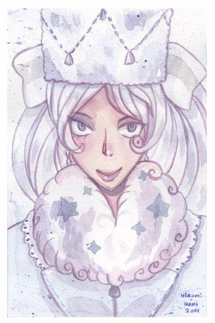 watercolor: La reines des neiges by hiromihana