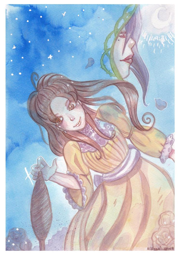 Watercolor: La Belle Au Bois Dormant by hiromihana