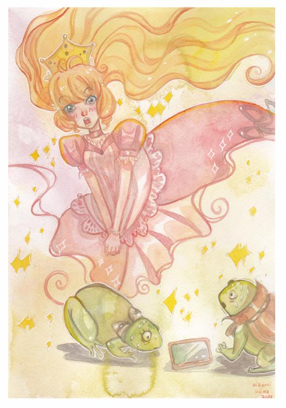 Watercolor: La Princesse Et La Grenouille by hiromihana