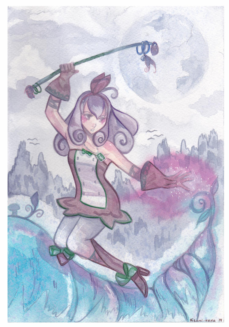 Watercolor:  Murasaki by hiromihana
