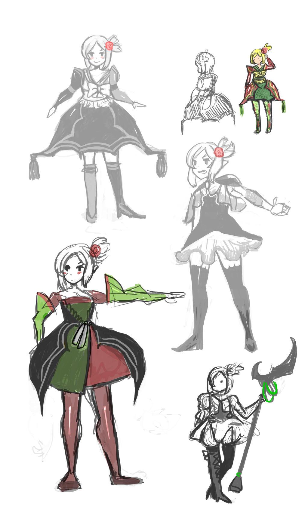 Artwork: Design clothes for Elwe Macaulaure by hiromihana