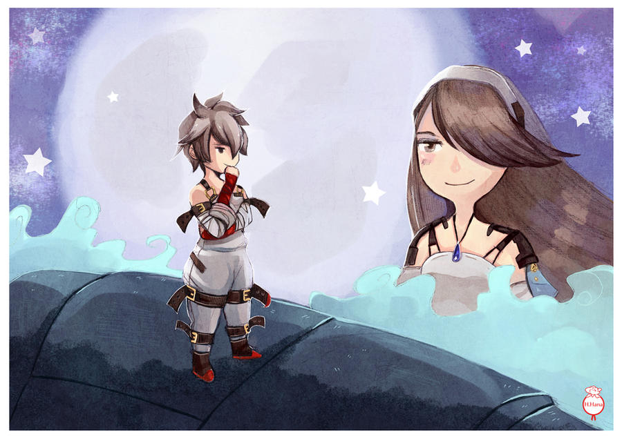 Fanart: Bravely Second Tiz and Agnes by hiromihana