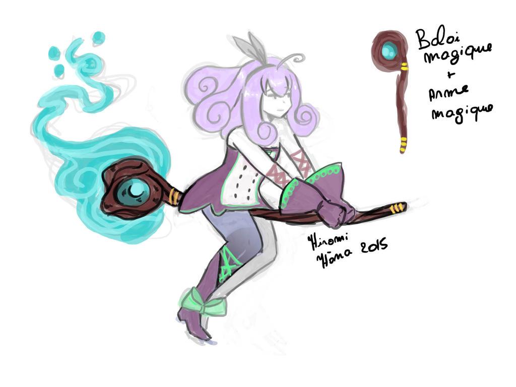 Fairy Sorceress design art Murasaki: Balai by hiromihana
