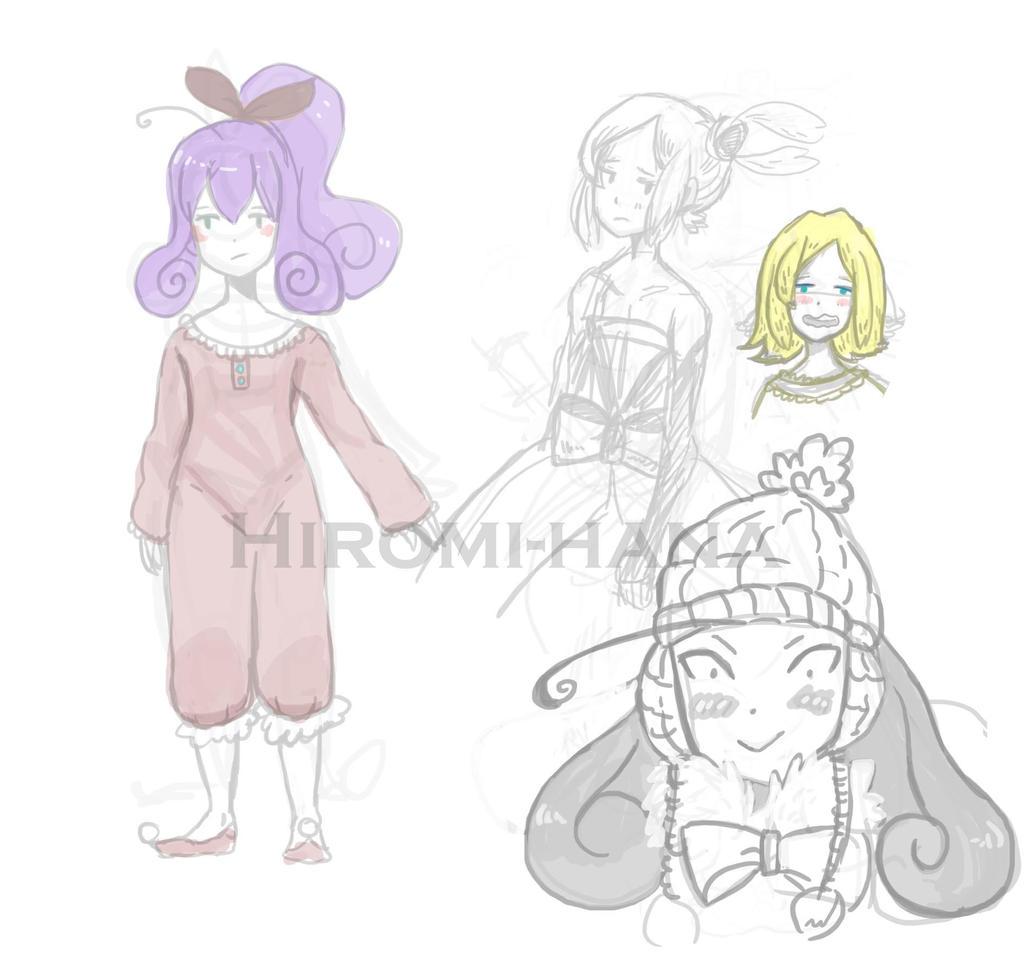 Sketch: Fairy Sorceress fashion hiver by hiromihana