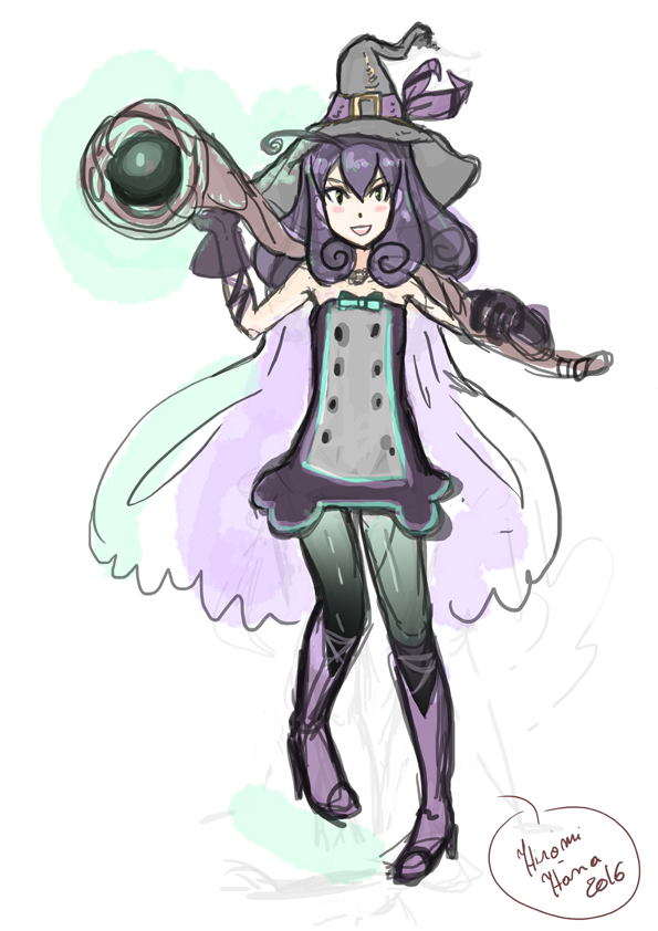 Fairy Sorceress: Murasaki Sketch by hiromihana