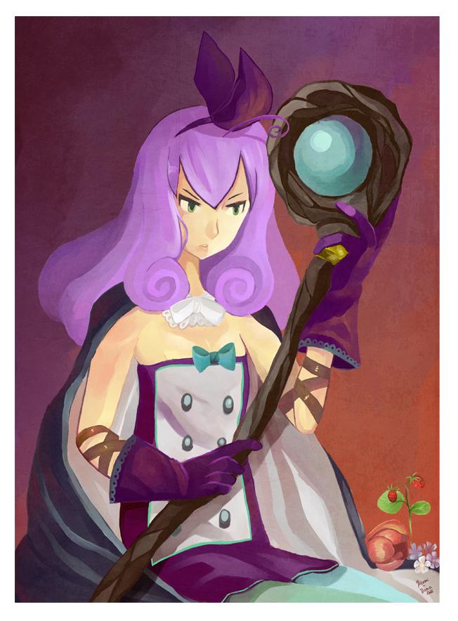 Fairy Sorceress: Murasaki et son baton by hiromihana