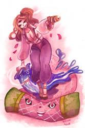 watercolor: Pudding