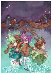 Watercolor : Couverture Fairy Sorceress x AtHios by hiromihana