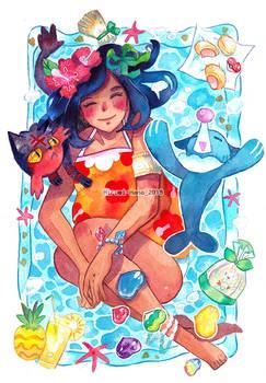 Watercolor Solene