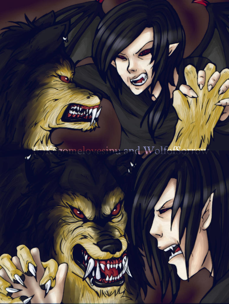 The Vampire and the Werewolf by kagomelovesinu on DeviantArt