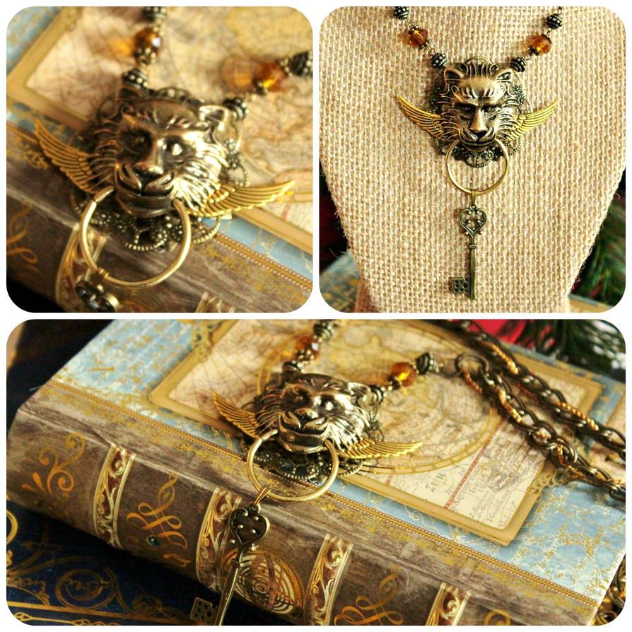 Winged Lion Knocker Necklace by ZTKuko