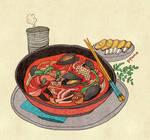 Food - Chinese-style noodles (Jjamppong)