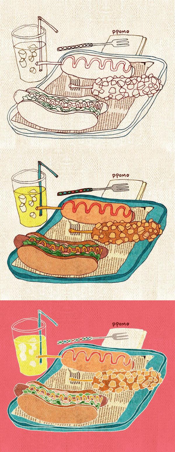 Food - Hot Dog by PPOMO
