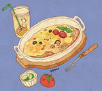 Food - Oven-baked Spaghetti