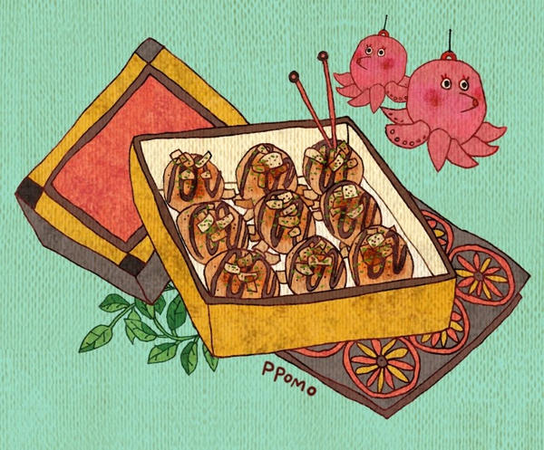 Food - Takoyaki by PPOMO