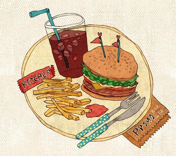Food - Hamburger Set by PPOMO