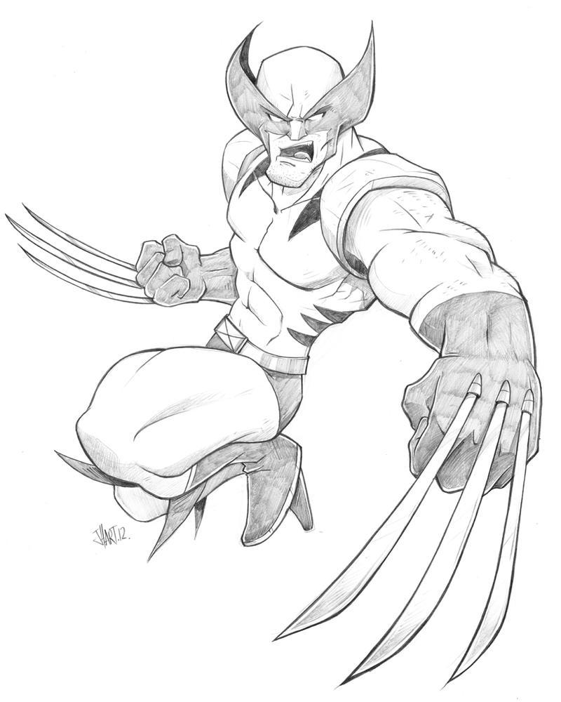 Wolverine Pencils by spewtank on DeviantArt