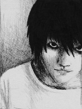 Kenichi Matsuyama as L by AlyssaFoxAH