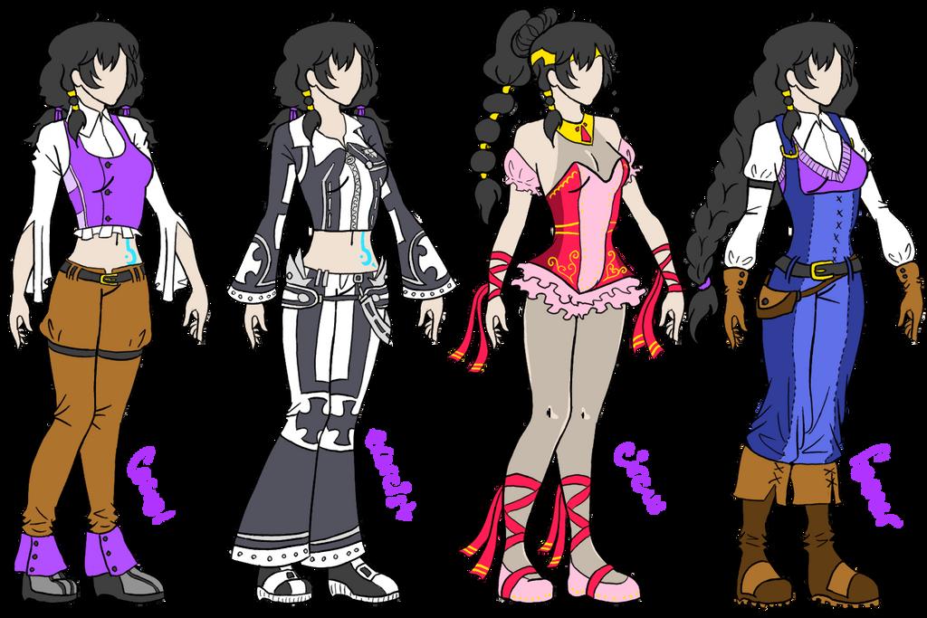 DGM OC - Riche Krome - outfit reference by AlyssaFoxAH