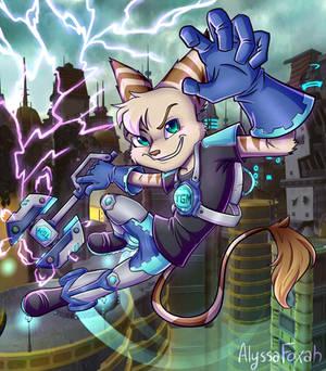 Lightning - Lombax Teal (Tealgamemaster fanart)