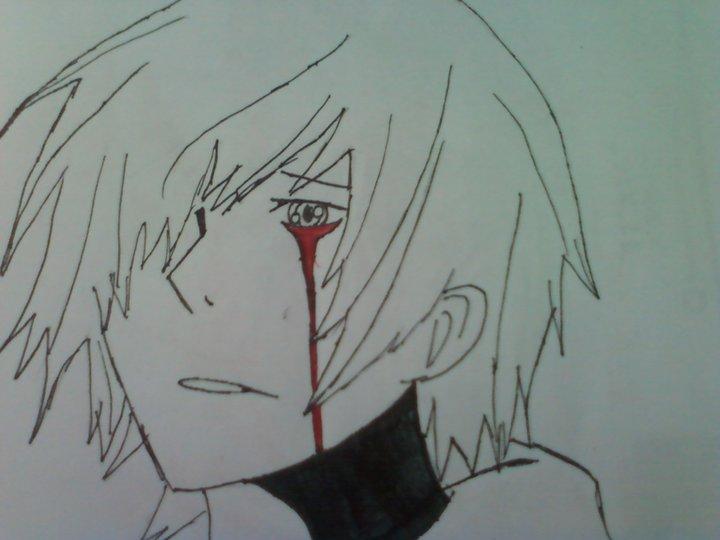 Anime Boy Crying Blood By Watashiwakareoai On DeviantArt