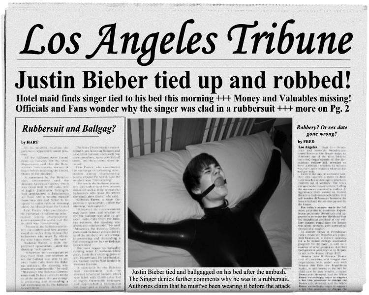 Justin Bieber Bondage...