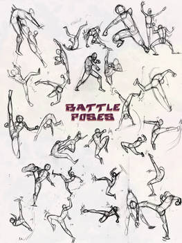 Battle Poses- Kick and Punch