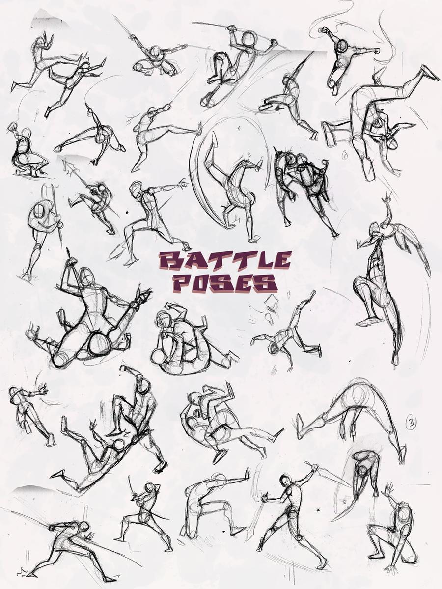 Battle Poses- Ass Kicking