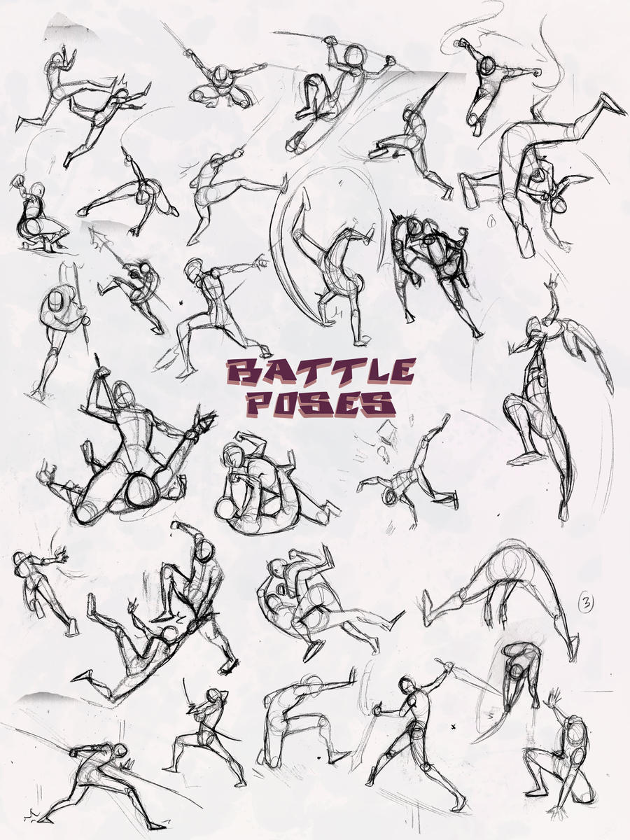 Battle Poses- Ass Kicking by ElementJax