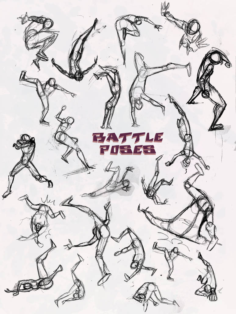 Battle Pose Dodge And Pwned By Elementjax On Deviantart