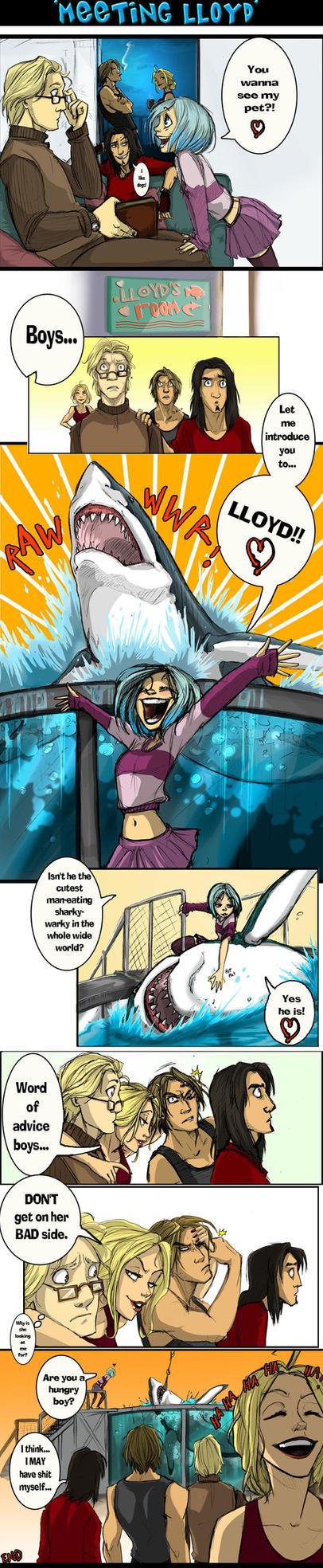 Elements comic- Meeting Lloyd by ElementJax