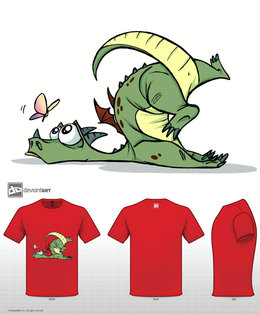 cute monsters t shirt clumsy dragon by elementjax on deviantart