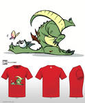 Cute Monsters T-shirt Clumsy Dragon