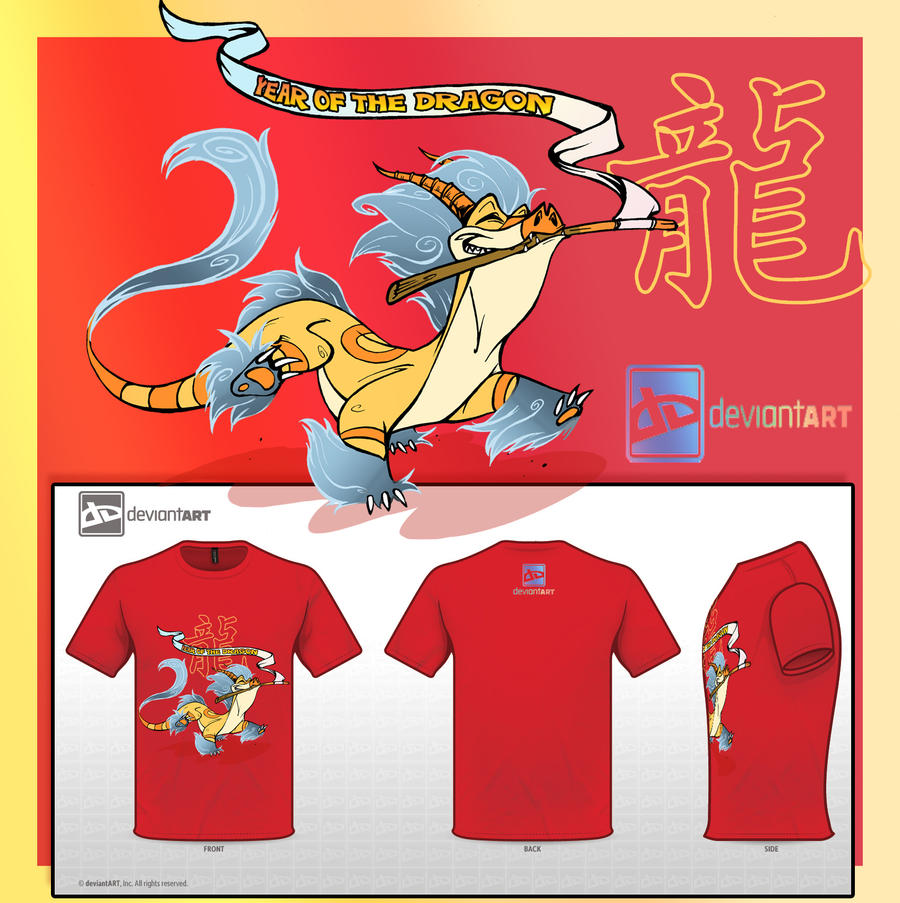 Cute Monsters T-shirt Year of the Dragon by ElementJax