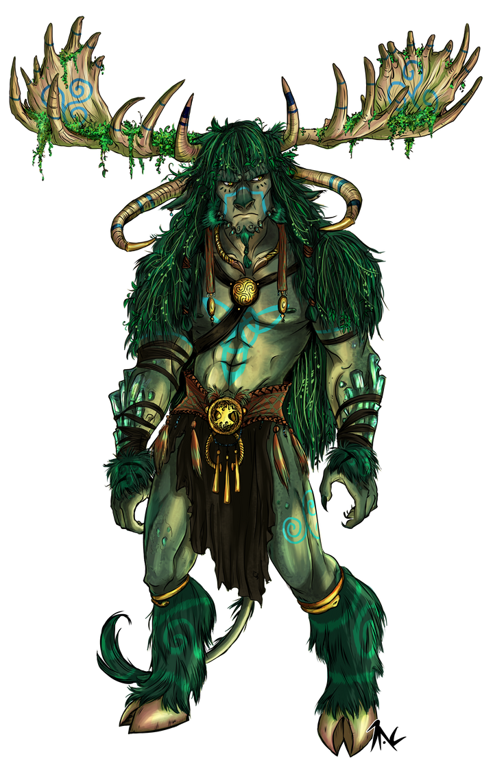 ELEMENTS Earth Dragon- Cernunnos by ElementJax