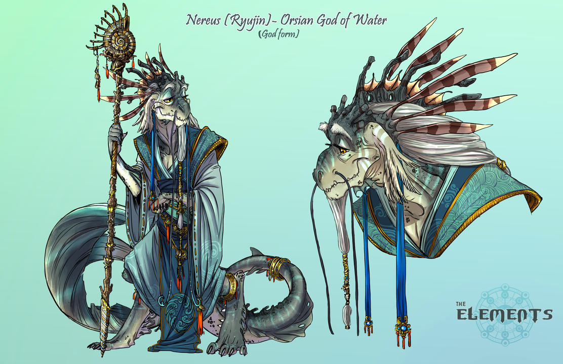 ELEMENTS- Nereus Orsian God of Water God Form by ElementJax
