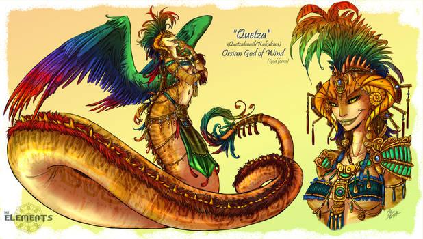 ELEMENTS- Quetza Orsian God of Wind God Form
