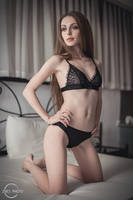 Black lingerie set by Zhes-photo