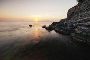 sea sunset. by ilmari-nen