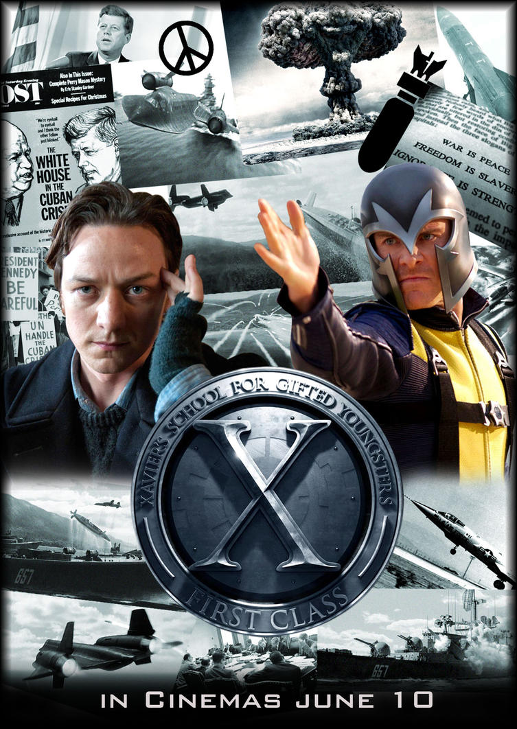 x men first class movie poster by njferns on x men first class movie poster by njferns