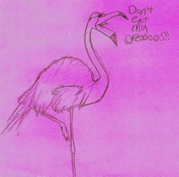 Purple Flamingo by alinabanana on deviantART