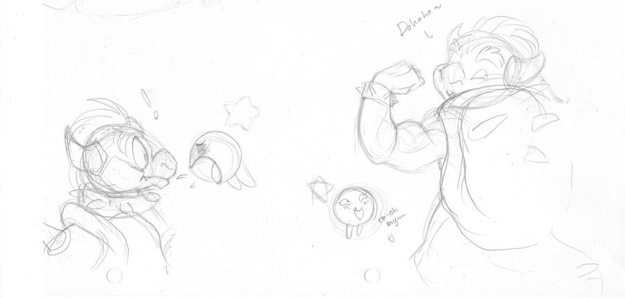 Bowser n' Starlow sketches by BatLover800