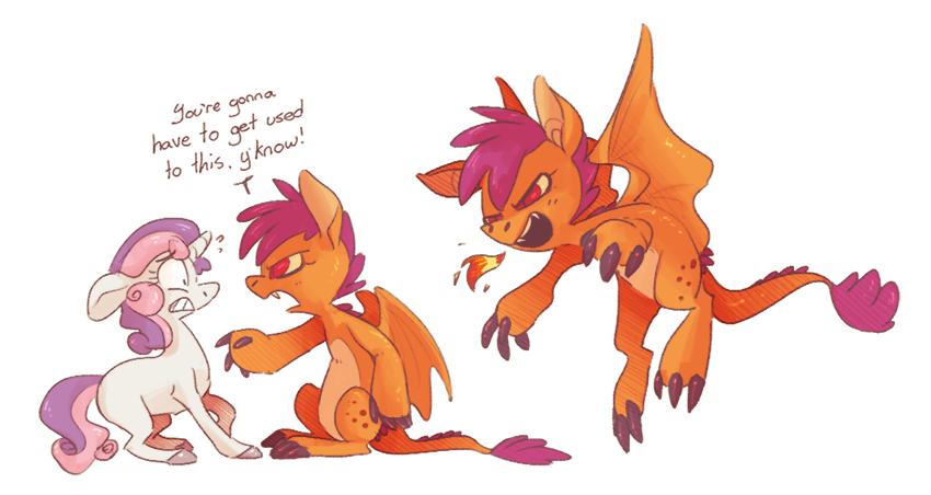 Scootaloo Dragon by BatLover800