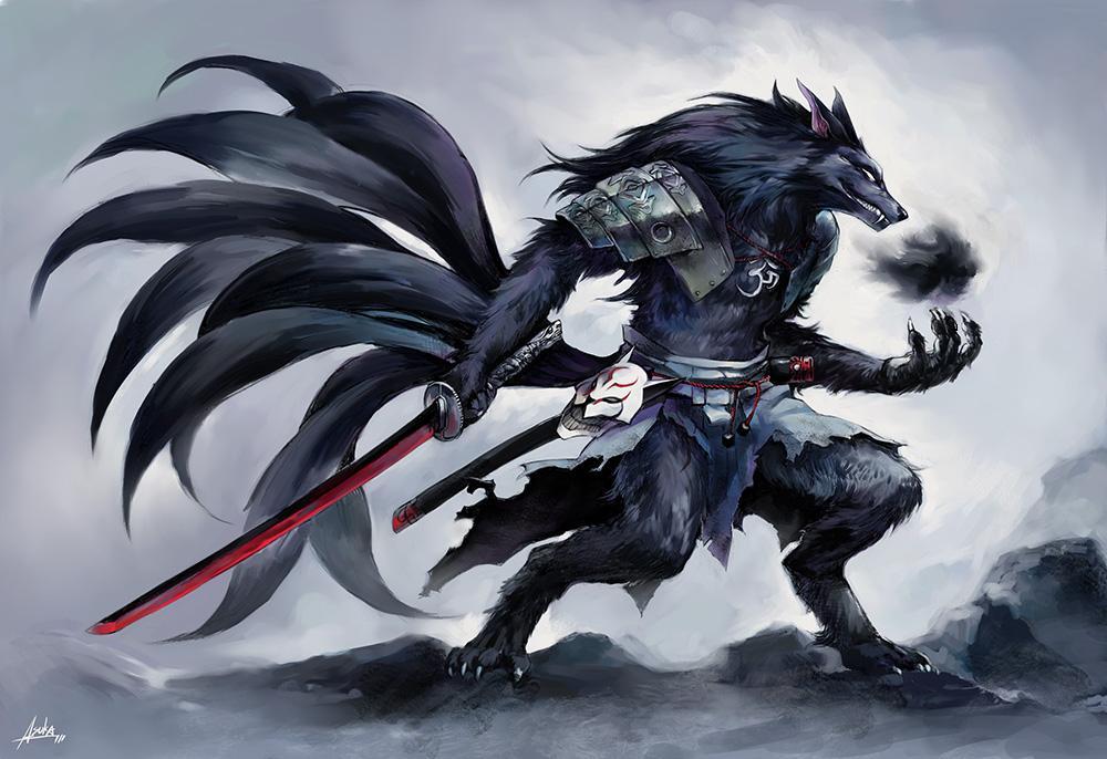 10 Criaturas mitológicas metamórfica Kitsune_samurai_by_PVTjoe