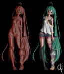Hatsune Miku 3D Process - Part3